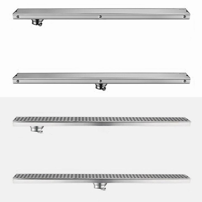 Free shipping 304 stainless steel 60cm linear anti-odor long floor drain bathroom invisible shower 600mm floor drain DR099 anti odor bathtub shower drainer floor strainer 10x10cm 304 stainless steel square invisible bathroom floor drain waste grate