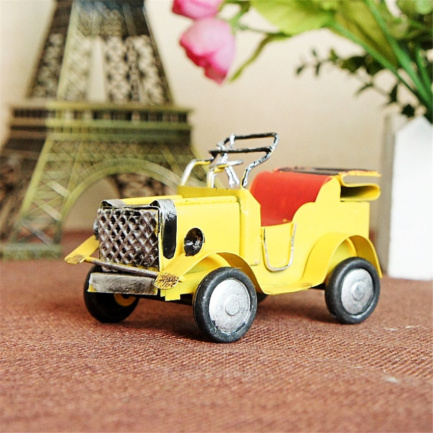 Ücretsiz kargo (3 adet / grup) Renkli mini retro araba modeli Eski - Ev Dekoru - Fotoğraf 4