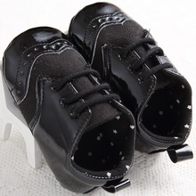 2017 Handsome Baby Moccasins Black White Leather Baby Boys Shoes