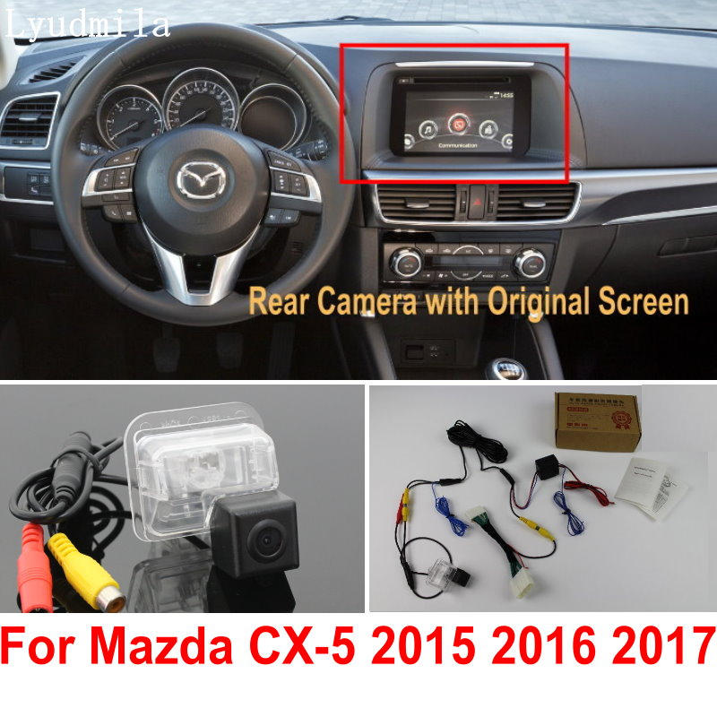 Car Rearview Camera Connect Original Screen FOR <font><b>Mazda</b></font> CX5 <font><b>CX</b></font>-<font><b>5</b></font> <font><b>CX</b></font> <font><b>5</b></font> 2015 <font><b>2016</b></font> 2017 Reverse Backup Camera RCA Adapter Connector image