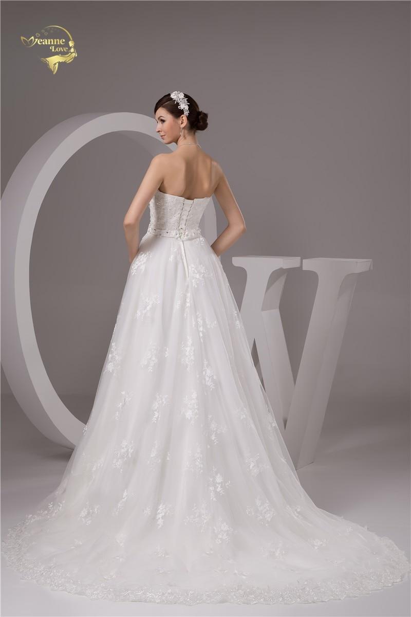 2016 Wit / Ivoor Luxe Vestido De Noiva Robe De Mariage Bridal Een - Trouwjurken - Foto 2