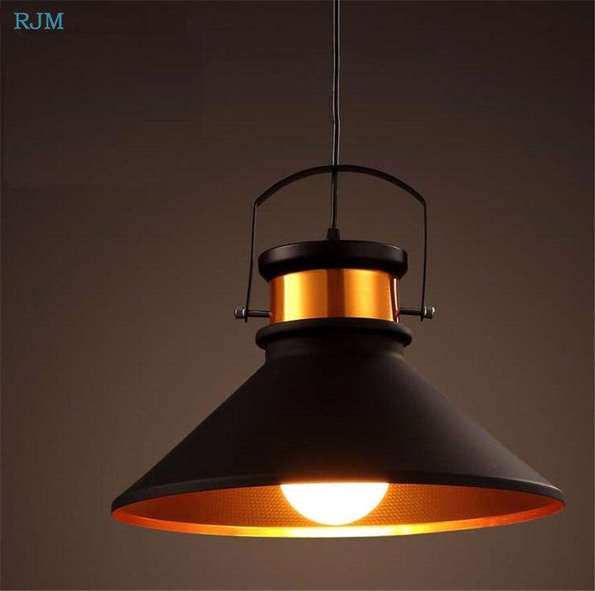 American Retro Iron Black Pendant Lights Industrial Metal E27 led Hang Lamps for Bar Restaurant Cafe Living Room Lighting Decor - 4