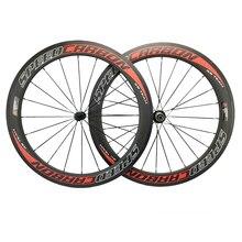 60 мм полностью карбоновые колеса колесная пара велосипеда клинчер трубчатый Novatec Powerway дорожный концентратор Speedcarbon колеса 700C Roues en Carbone
