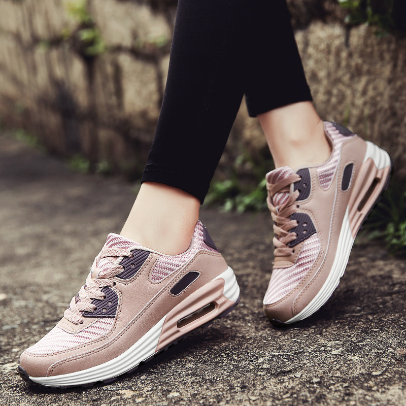 2019  Casual Women Shoes Fashion Clunky Sneakers For Female Walking Flat  Lace Up Trainers Ladies  Tenis Feminino Vulcanize Shoe