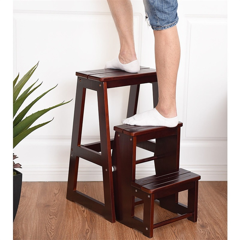 Awesome Us 63 23 45 Off Portable Folding Multi Functional 3 Tier Ladder Wood Step Stool Modern Sturdy Durable Stool For Home Office Bathroom Hw55009 In Gmtry Best Dining Table And Chair Ideas Images Gmtryco