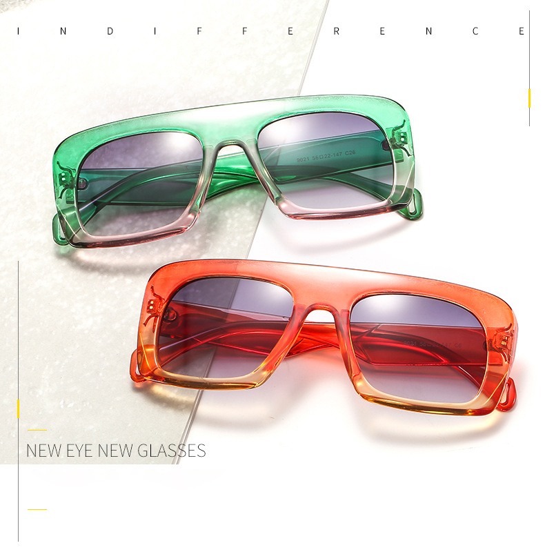 New 2019 Fashion Square Sunglasses Women Luxury Brand Gradient Mirror Sun Glasses For Female Personality Shades UV400