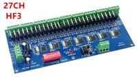Bán buôn 27 Kênh HF3 27CH 9 nhóm max 3A DMX512 XPL 3 P LED Decoder điều khiển cho DC12V-RGB led module dải đèn