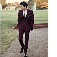 New Arrival Custom Made Groom Tuxedos Groomsmen Suit Bridegroom Wedding Prom Suits Formal Business Suits (Jacket+Pants+Vest