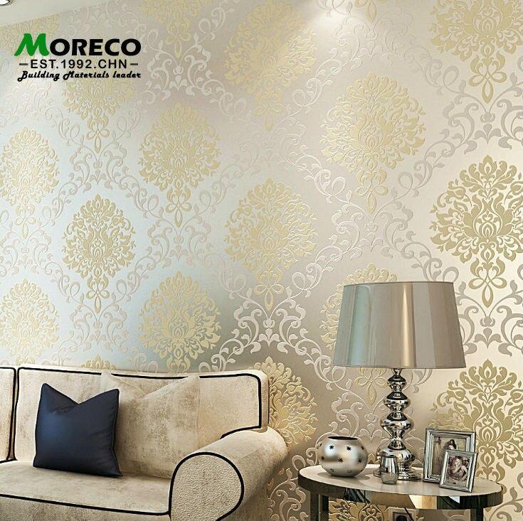 European Vintage Luxury Damask Wall paper Embossed