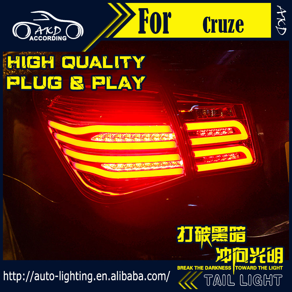 AKD Car Styling Tail Lamp for Chevrolet Cruze Tail Lights 2010-2016 LED Tail Light Signal LED DRL Stop Rear Lamp Accessories 2pcs 12v 24v 1156 p21w ba15s 22 5630 smd led back up lights lamp reversing tail rear led car light for chevrolet cruze