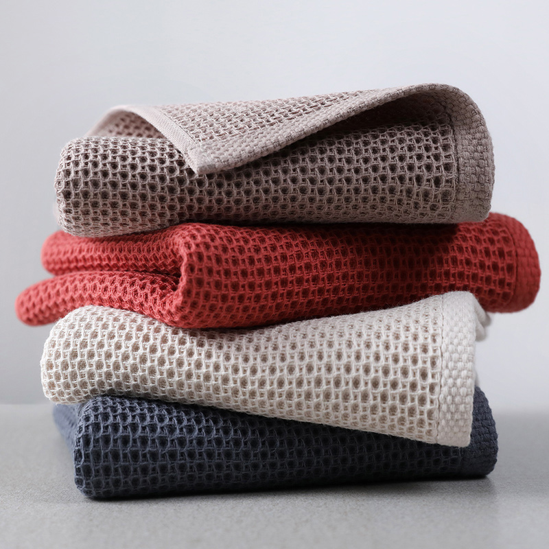 Beroyal Brand 1PC 100% Cotton Hand Towels For Adults Plaid Hand Towel Face Care Magic Bathroom Sport Waffle Towel 33x72cm