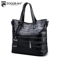 2017 New zooler genuine leather women bag brands fashion quality cowhide women handbags shoulder messenger crocodile pattern bag