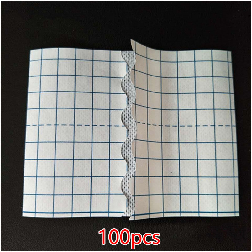 100PCS Non-woven Medical Tape Adhesive Plaster Breathable Bandage Anti-allergic Wound Dressing Fixation Tape Drug Patches