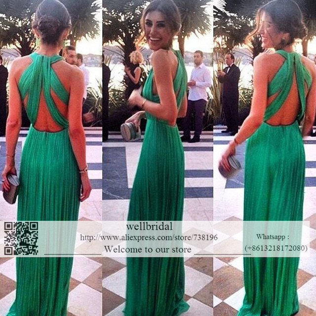 2017 Prom Dresses Long Celebrity Dress Wedding Party Dress vestido longo de festa Pleat Long Prom Bridesmaid Dresses for women