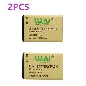 Image 1 - 2PCS 100% Original Rechargable Li Ion Akku für WLN KD C1 Zwei Weg Radio KD C2 1500mah KB 5C Kaili Walkie talkie Batterie