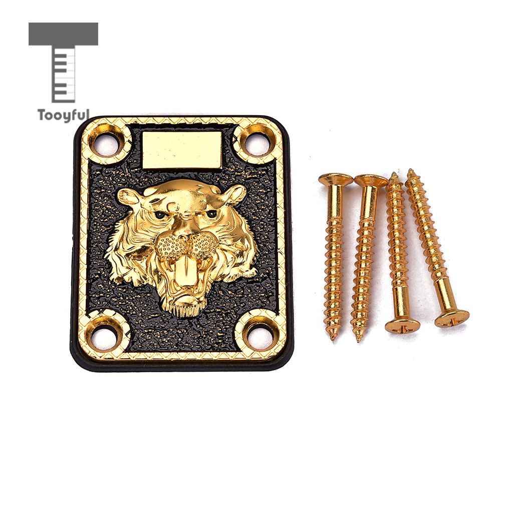 tooyful 1 set guitar neck plate with screws gasket for electric guitar replacement diy parts. Black Bedroom Furniture Sets. Home Design Ideas