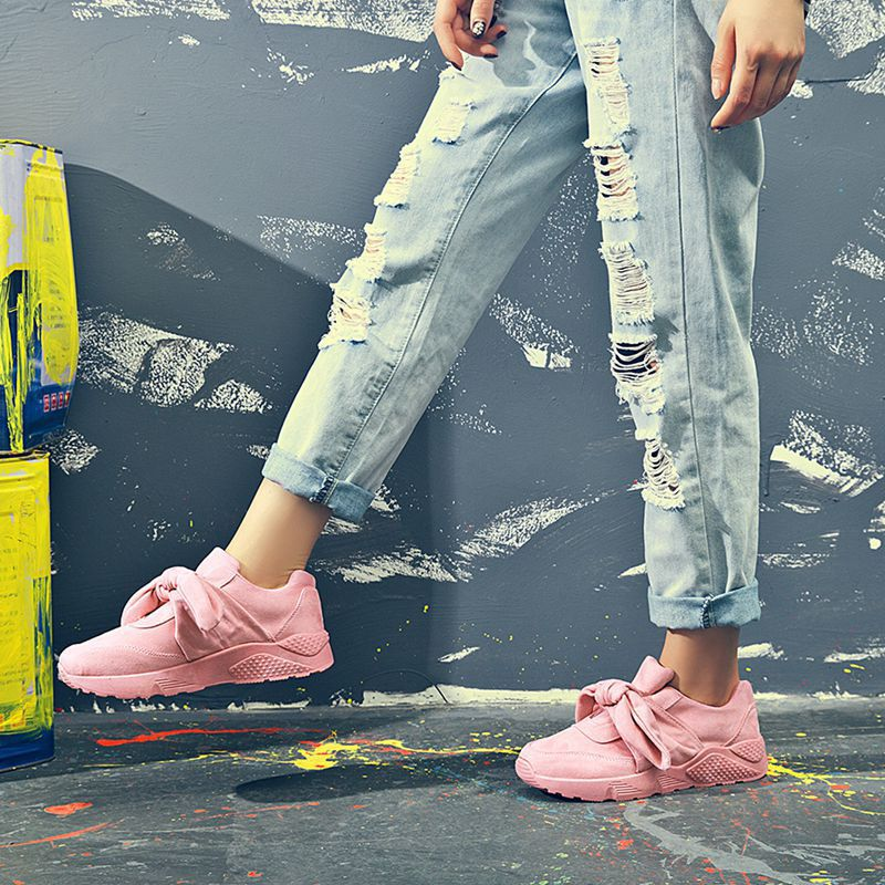 Americana Nuevos Mujeres Damas De Deportivos Casuales Negro Zapatos Europea Y rosado Moda Primavera 2019 Las gris Iazwq