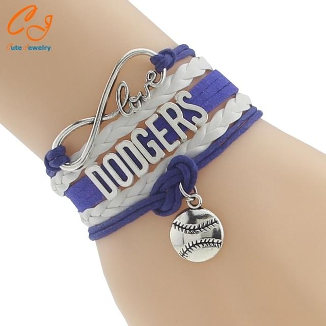 Infinity Love Dodgers Baseball Sports Team Bracelet Customize Friendship Bracelets
