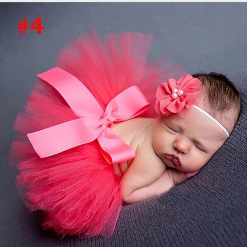 Лидер продаж; фатиновая юбка-пачка для маленьких девочек и повязка на голову с цветами; Комплект для новорожденных; реквизит для фотосессии; подарок на день рождения; 10 цветов; ZT001 - Цвет: Skirt andHeadband 10