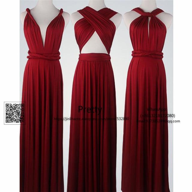 5f5451f37dd Spring 2017 Bridesmaid Dresses Long with More Design Chiffon Burgundy  Wedding Guest Dress Wedding Party Gown Bridesmaid Dress