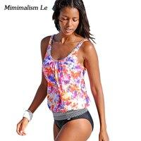 Minimalism Le Brand 2017 New Sexy Retro Patchwork Swimwear Women Swimsuit Push Up Plus Size Bikini