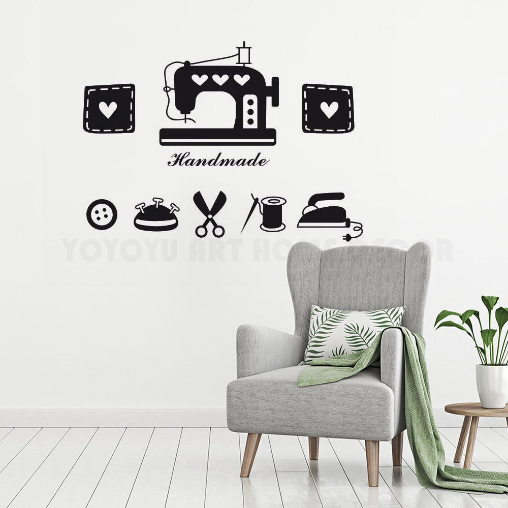 Personalised With Any Name Sewing Room Vinyl Wall Sticker Dressmaker Seamstress