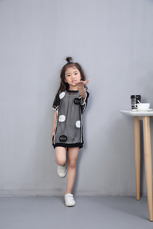 Girls summer t-shirt dress for 3 4 5 6 7 8 9 10 12 years old Girls clothes School chothes wear Hollow out grid 2 pieces dress river old satellite maxima vespa 7 6 гр код цв 13