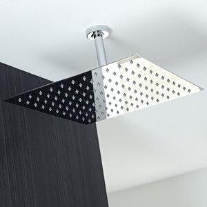 Image 5 - 卸売と小売40センチメートル * 40センチメートル降雨シャワーヘッド16インチ天井レインシャワーレインシャワーヘッド16インチ