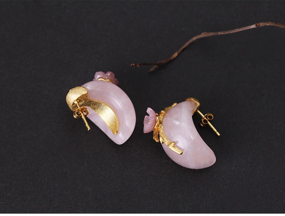 cristal rosado criativo artesanal jóias finas flor de ameixa brincos para mulher
