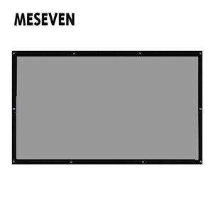 200 дюймовый (16,7 фута) 16:9 ПВХ мягкий задний проектор HD Проекционный экран пленка с черными краями легко закрепляется