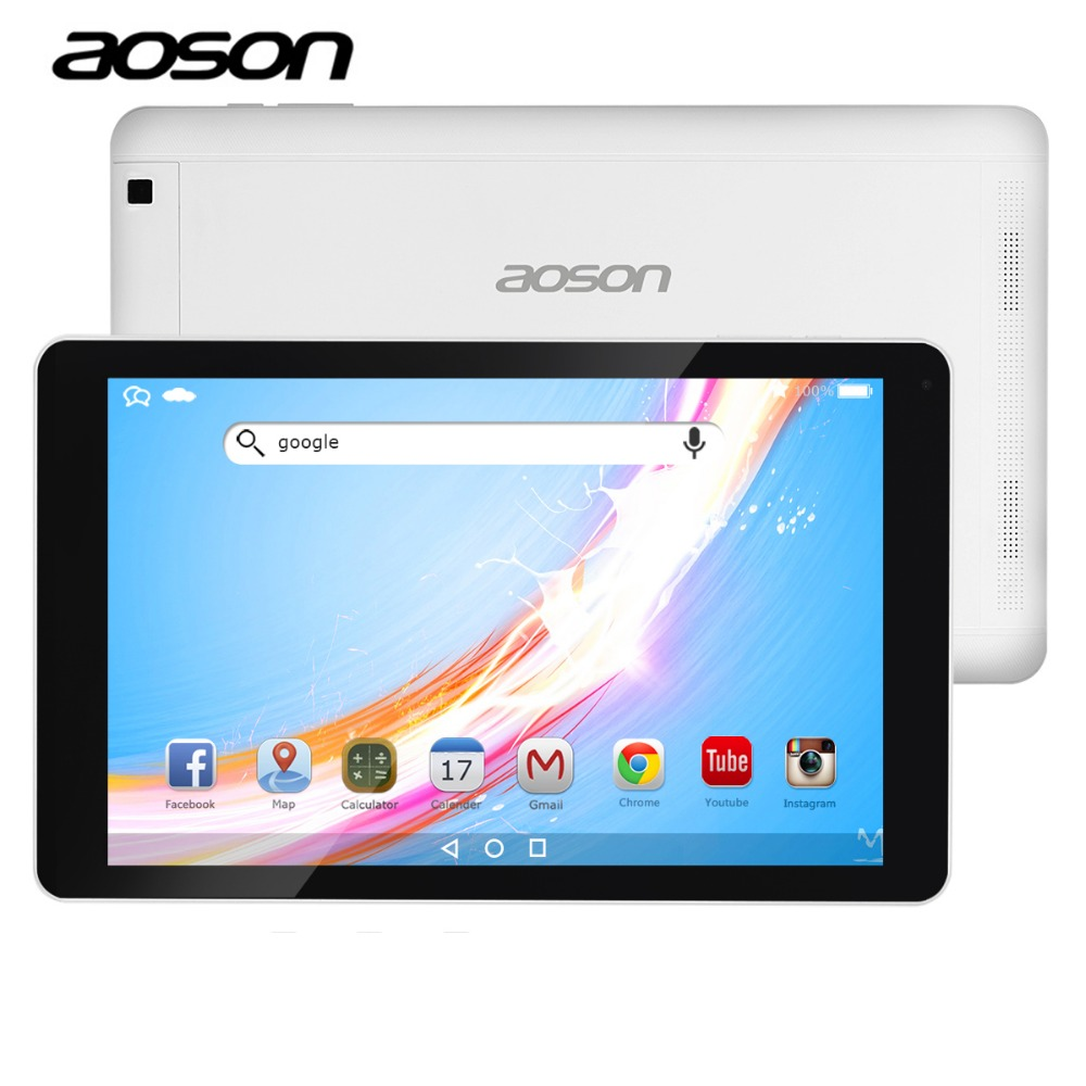 Aoson R102 10.1 inch Tablets 16GB+1GB Quad Core Android 6.0 MTK Tablet PC  800*1280 Dual Cameras WIFI Bluetooth GPS Ultra-Thin