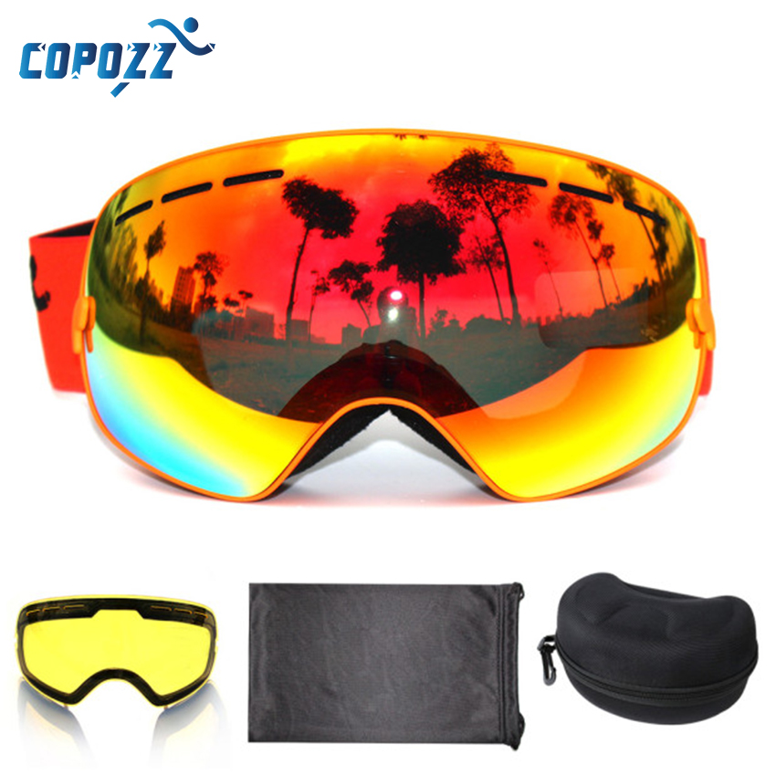 COPOZZ merk skibril 2 dubbele lens anti-condens UV400 grote grote - Sportkleding en accessoires - Foto 3