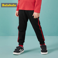 Balabala pants for the boy loose straight panelled Casual sports pants boys joggers Spring and autumn trousers kids pants