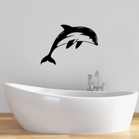 Dolphin Wall Sticker Removable Vinyl Wall Decal Home Decor Bathroom PVC Waterproof Animal Wall Decals
