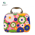 2017 Best Sale PU Leather Women Flowers Girls Professional Cosmetic Bag Make up case Cosmetic Box with 4 Colors free shipping