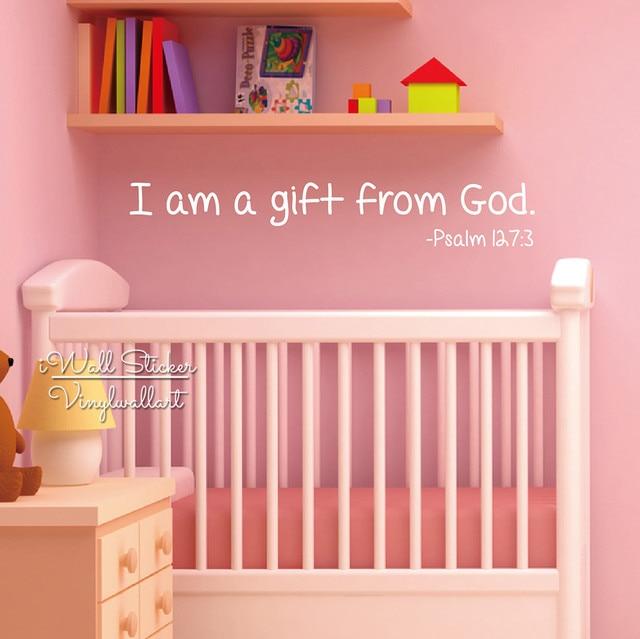 Online Shop Gift Van God Citaat Muursticker Baby Nursery Quotes