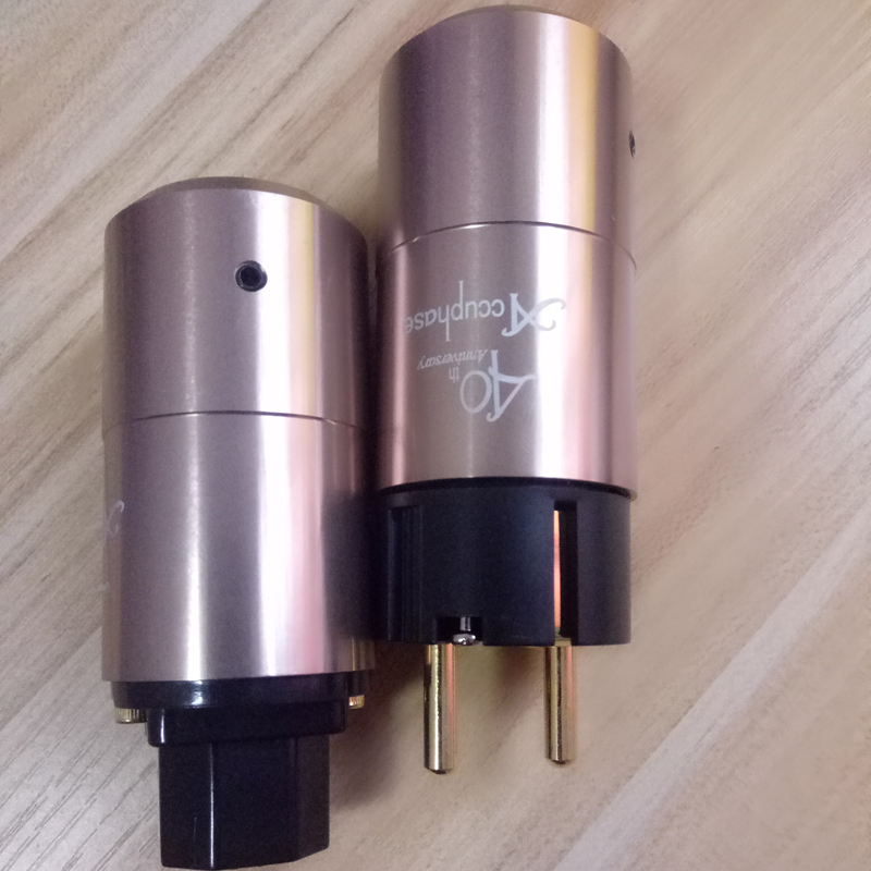 Hi End pair Hifi Accuphase 40th EU Schuko Power plug IEC commector Amplifier CD VCD DVD