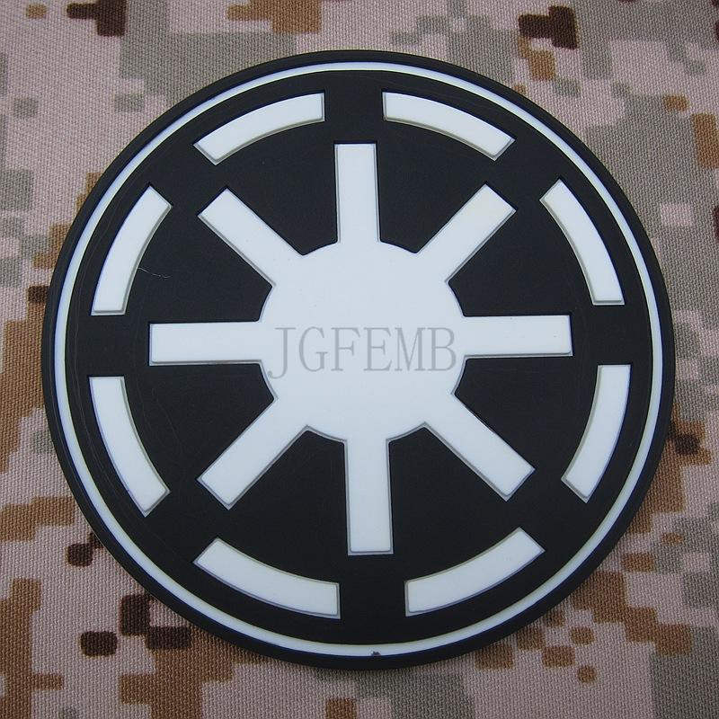 Black Galactic Republic Imperial Logo Military Tactics 3d Pvc Patch