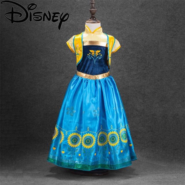 Disney Frozen Gaun Musim Panas Gadis Lucu Elsa Anna Salju Kostum
