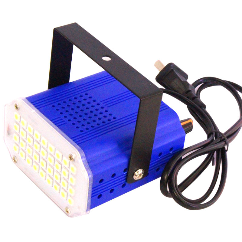 цены Mini 36/48 Led stage lighting strobe Effect DJ Disco light sound voice control Flash stroboscope RGB/White stage lamp party show