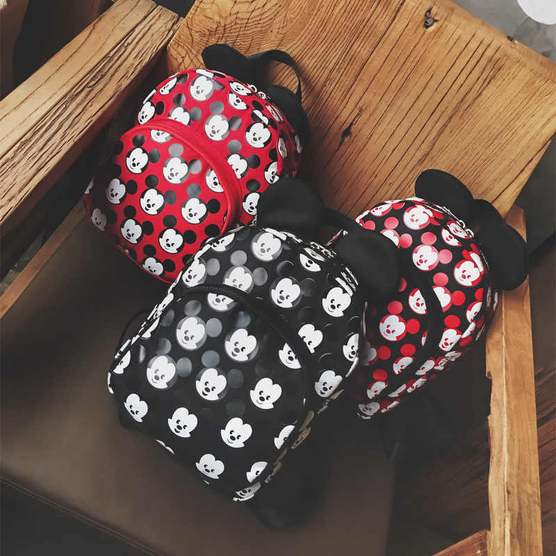 Mickey Mochilas Bolsa Feminina Qualidade Oxford Mulheres Gir Mochila Orelhas de Mickey Sacos Para Adolescentes mochila