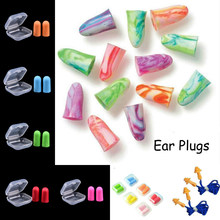 Soft Foam Silicone Corded Ear Plugs Ears Protector Reusable Hearing Protection Noise Reduction Earplugs Earmuff(China)