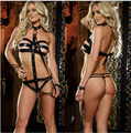 Sexy Tape New Arrival Women Sexy Lingerie Latex PU Bodycon Costume Leather Hot Fitness Bodysuit Pants+Ribbon