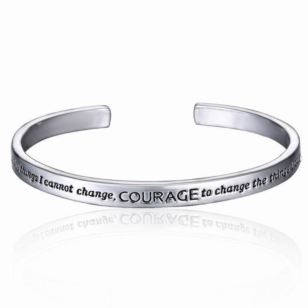 New Serenity Prayer Cuff Bangle Silver Plated Bracelet In A Gift Box Carter Love For Women