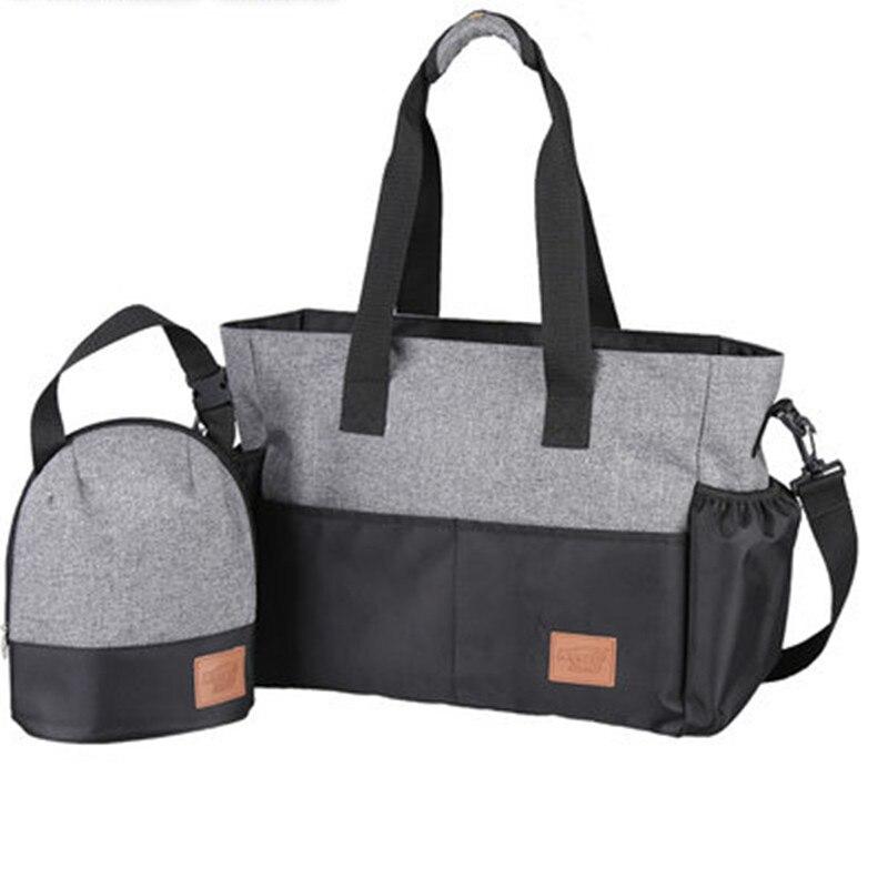 Dans 1 cadeau Designer bébé sacs pour maman momie sac à couches bébé poussette organisateur chariot landau accessoires Nappy sac
