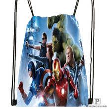 Custom Spiderman Avengers Drawstring Backpack Bag Cute Daypack Kids Satchel Black Back 31x40cm 180611 01 27