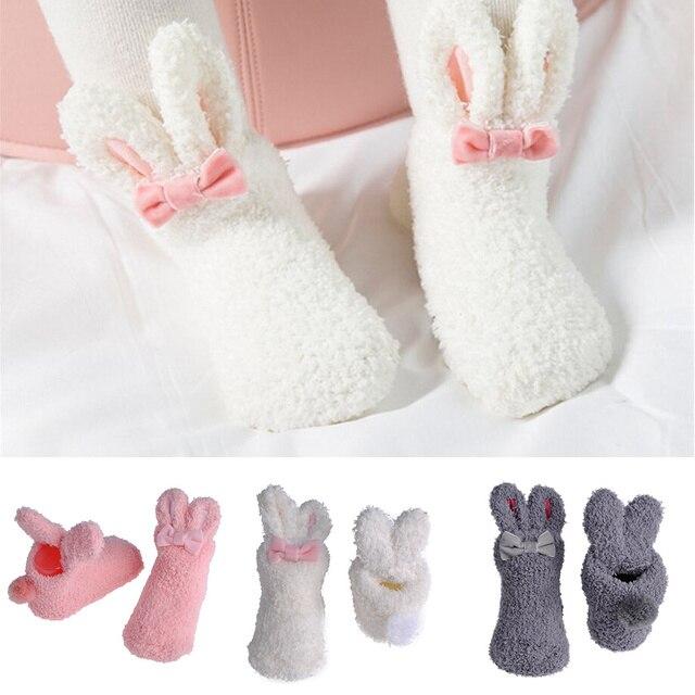 Bebé bebés Coral lindo del oído de conejo invierno cálido ...