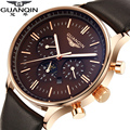 GUANQIN Watch Men Luxury Top Brand Big Dial Designer Quartz Watch Male multifunction Casual Wristwatch Men's business clock hour