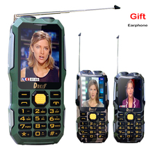 DBEIF D2016 mágica voz Dual Antenn FM linterna 13800 mAh banco de la energía mp3 mp4 teléfono celular TV Analógica móvil Resistente P242