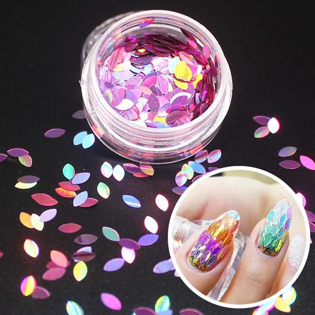 1 Bottle Shiny Round Ultrathin Sequins Colorful Nail Art Glitter